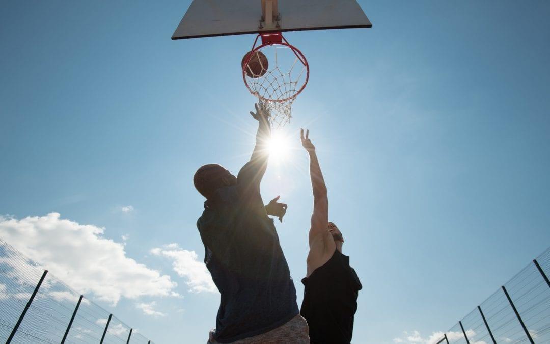 Basketball in Sunlight